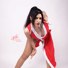 Ailiroy as Mai Shiranui, from King of Fighters, by SpirosK photography (SpirosK photography) Tags: ailiroy maishiranui kingoffighters spiroskphotography cosplay costumeplay portrait studio highkey sexy red snk kof
