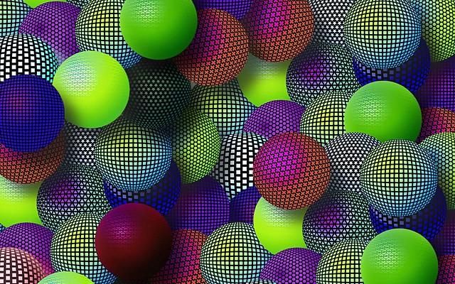 Обои шары, разноцветный, сетка, множество, разнообразие картинки на рабочий стол, фото скачать бесплатно