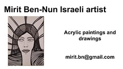 Mirit Ben-Nun art world an intelligent artistic intuitive  woman virtual gallery (female art work) Tags: material no borders rules by artist strong from language influence center art participates exhibition leading powerful model diferent special new world talented virtual gallery muse country outside solo group leader subject vision image drawing museum painting paintings drawings colors sale woman women female feminine draw paint creative decorative figurative studio facebook pinterest flicker galleries power body couple exhibit classic original famous style israel israeli mirit ben nun