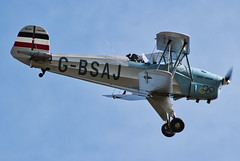 (G-BSAJ)Bücker Jungmann CASA 1-131-E3B (alex kerr photography) Tags: bucker jungman skytricks duxford flyinglegends airshow casa gbsaj