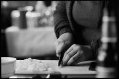 (blakeboulka) Tags: 35mm blackandwhite ilford hp5 plus film bw hp5plus bnw monochrome contrast light dark analog manual nikon f3 birthdays weekends airbnb vegan cooking lunch cutting