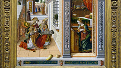 Crivelli, The Annunciation, detail of bottom
