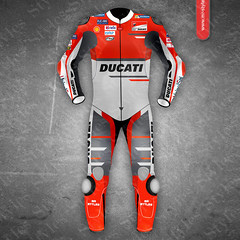 MotoGP leather suits are heavy protection for MotoGP Sports (mrstyles137) Tags: motogp suits leather 2018 model2018 ducati team