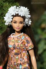flower girl (photos4dreams) Tags: dress barbie mattel doll toy photos4dreams p4d photos4dreamz barbies girl play fashion fashionistas outfit kleider mode puppenstube tabletopphotography redhead ginger flechtfrisur hat hut girlpower curvy kurvig normalbody