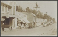 c. 1932 Postcard - View of the White Rock Theatre / Business Section of White Rock, B.C. Opposite the Train Depot / Station (Treasures from the Past) Tags: whiterock bc britishcolumbia postcard dintys store businesssection