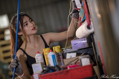 DSC_1830 (Robin Huang 35) Tags: 龜山鄉 臺灣省 中華民國 tw 張淳艾 波比 poppy 修車廠 修車服 工作服 人像 portrait lady girl nikon d850