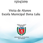 Visita de alunos da Escola Municipal Dona Lulu  15/04/2019