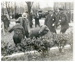 Police break up anti-imperialist protest: 1932 (Washington Area Spark) Tags: japan japanese embassy aggression china manchuria demonstration protest picket peaceful police club arrest washington dc 1932 anti imperiali