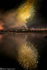 Fireworks (Ó.Guð) Tags: fire fireworks firework reflection iceland icelandic water waterblur speglun óguð ogud olafurragnarsson ólafurragnarsson nightshot night nightimagen flugeldar flugeldasýning flugeldur vatn lækur creek newyearseve gamlárskvöld