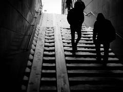 Stairway (rsvatox) Tags: saintpetersburg stairway monochrome street nocolor streetphotographer blackandwhite dark people
