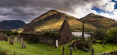 Sacred ground (Phil-Gregory) Tags: church nikon d7200 tokina1120mmatx tokina green mountains highlands scenicsnotjustlandscapes scotland glenshiel shielbridge landscapes gravestones graves clouds cloudscape
