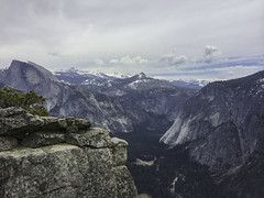 First Hike (Katelynn Manz) Tags: yosemite national park valley sierra sierras nevada mountain montanas montagnes cliff cliffs granite rock domes conifers california ca usa wander wanderlust explore adventure dream nature conservation glacierpoint upperfalls halfdome peak peaks