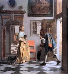 IMG_5668 Pieter de Hooch. 1629-1684. Delft, Amsterdam Le messager de l'amour The Messenger of Love. vers 1670.  Hambourg Kunsthalle. (jean louis mazieres) Tags: peintres peintures painting musée museum museo deutschland germany allemagne hamburg kunsthalle