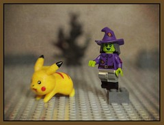 The Witch is scaring the little animals again ! (N.the.Kudzu) Tags: tabletop stilllife toys lego miniature witch canoneosm lensbabysol45 lightroom photoscape frame pokemon