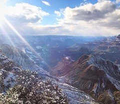 The Grand Canyon is ever more glamorous with a garment of white. #GrandCanyon #Arizona #travel #snow #winter #scenic #beauty #picoftheday #sky #clouds #sunbeam #sunrays #vacation #destination #desert #landscape #southwest #igsouthwest #instagramaz #arizon (Nate Loper - #ArizonaGuide) Tags: southwest grand canyon arizona flagstaff outdoors landscape nature getoutside travel scenic royalty free to use seetheworld photography editorial sky clouds park geology desert adventure explore guidelife arizonaguide
