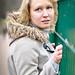 Portrait around a wire fence