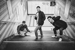 Gang (Zesk MF) Tags: bw black white zesk street cologne night beer bier gang x100f fuji steps posing weekend station fuckyou middlefinger beanie