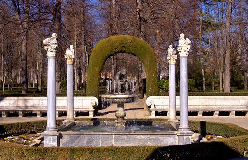 FUENTE DEL ESPINARIO, JARDIN DE LA ISLA PALACIO REAL DE ARANJUEZ, MADRID 9001  2-3-2019