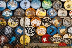Tagged Barrels (derek.simeone) Tags: seattle washington unitedstatesofamerica us wa usa pnw cascadia pacificnorthwest canon georgetown streetart graffiti barrels industrial urbandecay