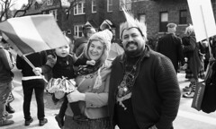 Sunnyside/Woodside St. Pat's For All Parade (neilsonabeel) Tags: nikonn90s nikon nikkor film analogue blackandwhite parade queens newyorkcity stpatsforall