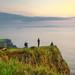 watching sunset at Antrim coast