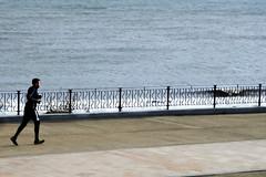 Morning Run (alison's daily photo) Tags: jogging promenade whitleybay sea 100xthe2019edition 100x2019 image23100