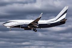 MSP N301SR (Moments In Flight) Tags: minneapolisstpaulinternationalairport msp kmsp mspairport aviation avgeek airplane privatejet boeing business jet bbj n301sr 737 7377jvbbj