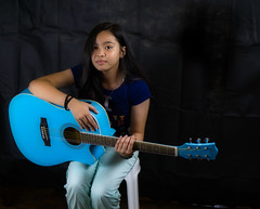 Blues (Beegee49) Tags: girl filipina guitar blue luminar sony a6000 bacolod city philippines asia portrait happyplanet asiafavorites