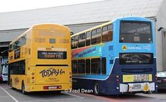 Bus Eireann VWD42 & Dublin Bus VG9. (Fred Dean Jnr) Tags: cork todayfm alloverad volvo wright wrightbus eclipse gemini3 april2019 buseireann vwd42 151c7159 capwelldepotcork capwellgaragecork buseireanncapwelldepot dublinbusyellowbluelivery dublinbus busathacliath pboro b9tl gemini vg9 08d70009 lowemissionbustrial