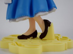 EXQ-starry Belle Figure By Banpresto - Deboxed - Closeup Right Side View of Shoes (drj1828) Tags: exqstarry 85inch 220mm blue princess belle banpresto vinyl figure purchase beautyandthebeast animated disney crane claw prize deboxed