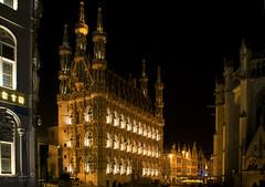 Leuven city hall (Geert E) Tags: leuven stadhuis nachtfotografie architectuur cityhall architecture louvain grotemarkt hôteldeville mairie night gotisch gothic long exposure