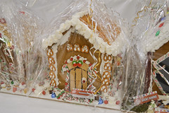Gingerbread House Decorated by Mahogany (NottawasagaResort) Tags: nottawasagaresort nottawasaga nottawasagainn nottawasagainnresort inn resort hotel raffle humane society gingerbread gingerbreadhouse candy house chocolate frosting christmas charity alliston allistonontario donation staff event dogs cats pets sugarplumfair sugar plum fair spf barbie cookie monster local animals