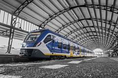 Haarlem Central (fransvansteijn) Tags: rood haarlem netherlands station central ns trains round bw low hall centraalstation jugendstil