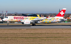 SWR_CS300_HBJCA_BRU_14FEB2019 (Yannick VP - thank you for 1Mio views supporters!!) Tags: civil commercial passenger pax transport aircraft airplane aeroplane jet jetliner airliner swr lx swiss airlines bombardier cseries cs300 a220 a220300 hbjca vignerons2019festival special livery colors colours paint brussels airport bru ebbr belgium be europe eu february 2019 approach landing arrival runway rwy 25l aviation photography planespotting airplanespotting