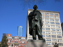 President Abraham Lincoln Bronze statue Union Square Park 1543 (Brechtbug) Tags: former president abraham lincoln bronze statue union square park artist sculptures statues manhattan new york city 2019 nyc art arts world abe characters next tourists february 02162019 presidents day life size portrait portraits urban winter season stair stairs step facade museum front entrance top hat tophat stove pipe hats formal dress politician politics political gent