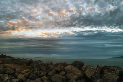 """""""clouds on the rocks"""" (... Marlo Lao) Tags: marlolao pointisabel richmond california sunset nikon d40 clouds"""