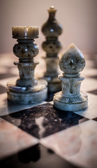 Chess pieces (alisonsage1) Tags: macromondays hardlight chesspieces chess chessboard marble macro reflections