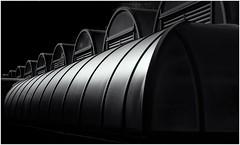 Metal Roof (Andy J Newman) Tags: architecture london monochrome barbican blackandwhite brutalistarchitecture d810 londonphotographic meetup metal nikon sepia silverefex england unitedkingdom gb