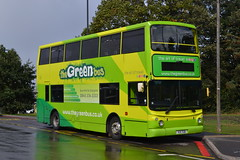 The Green Bus 121 V21TGB (Will Swain) Tags: solihull 21st september 2018 birmingham west midland midlands city centre bus buses transport travel uk britain vehicle vehicles county country england english the green 121 v21tgb former v324kgw london ta24 abellio 9724