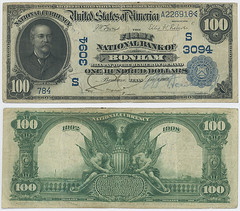 United States $100.00 (one hundred dollars) national currency (SMU Libraries Digital Collections) Tags: texas money national us united states currency paper banks notes note banknote banknotes chartered bank banking fannin fannincounty bonham