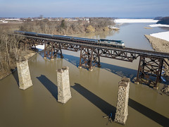 Jordan Harbour (Ryan J Gaynor) Tags: amtrak mapleleaf jordanharbour jordan ontario canada passengertrain train trestle architecture railroad railfan railway railroading drone djimavicpro