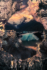 Fire and Ice (Foto Fresh) Tags: fire ice iceberg patagonia layers marcadamus mountain sunrise sunset luminance chile argentina colorful fjord fiord cloudy unknown expedition sony a7r3 a7riii multipleimages masking focus stacking