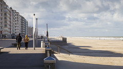 Windy day on the coast (paul indigo) Tags: beach coast belgium walking sun sand wind clouds