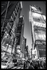 Times Square (Branko Gregov) Tags: nyc newyork newyorkcity times square iloveny streetscene street streetview nycstreet nycviews travel tourists tourism fineartphotograhpy fineart blackandwhite buildings energy lights