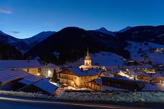 Areches - France DSC01853 (Ludo_M) Tags: savoie france winter dusk wideangle bluehour village areches snow church mountain sonyilce7rm3 zeissbatis225