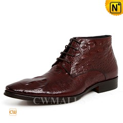 Mens Leather Boots | CWMALLS® New York Embossed Leather Dress Boots CW719002 [Global Free Shipping] (cwmalls2018) Tags: men leather dress boots ankle handmade embossed fashion shopping