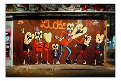 STREET ART by MOWSCODELICO (StockCarPete) Tags: mowscodelico glor leekstreet lickst london uk streetart londonstreetart wallart urbanart characters graffiti