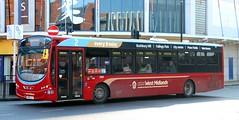 National Express West Midlands 2009 BX61LJL in Wolverhampton Centre. (Gobbiner) Tags: eclipseurban2 nationalexpresswestmidlands 2009 wolverhampton b7rle nxwm wrightbus bx61ljl volvo westmidlandstravelltd