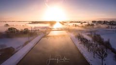 Vol au dessus d'un canal (jeje62) Tags: dji aerialphotography aérien blanc ciel drone droneshoot dronestagram france hauteur hiver landscape neige pasdecalais paysage phantom4 snow vueaérienne winter