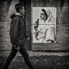 the look (Daz Smith) Tags: dazsmith fujifilmxt3 xt3 fuji city streetphotography people candid portrait citylife thecity urban streets uk monochrome blancoynegro blackandwhite mono poster look walking man london soho